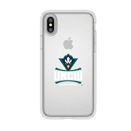 IPH-X-CL-PRE-UNCW-D101: FB UNC Wilmington iPhone X Presidio Clear